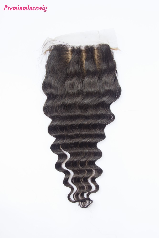 Deep Wave Malaysian Hair Silk Base Closure 16inch