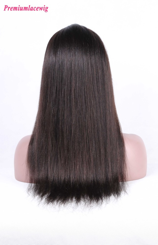 Indian Straight Silk Top Full Lace Wigs 18inch