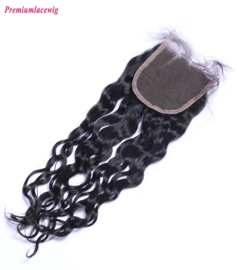 Loose Deep Wave Lace Closure Brazilian Hair 12inch