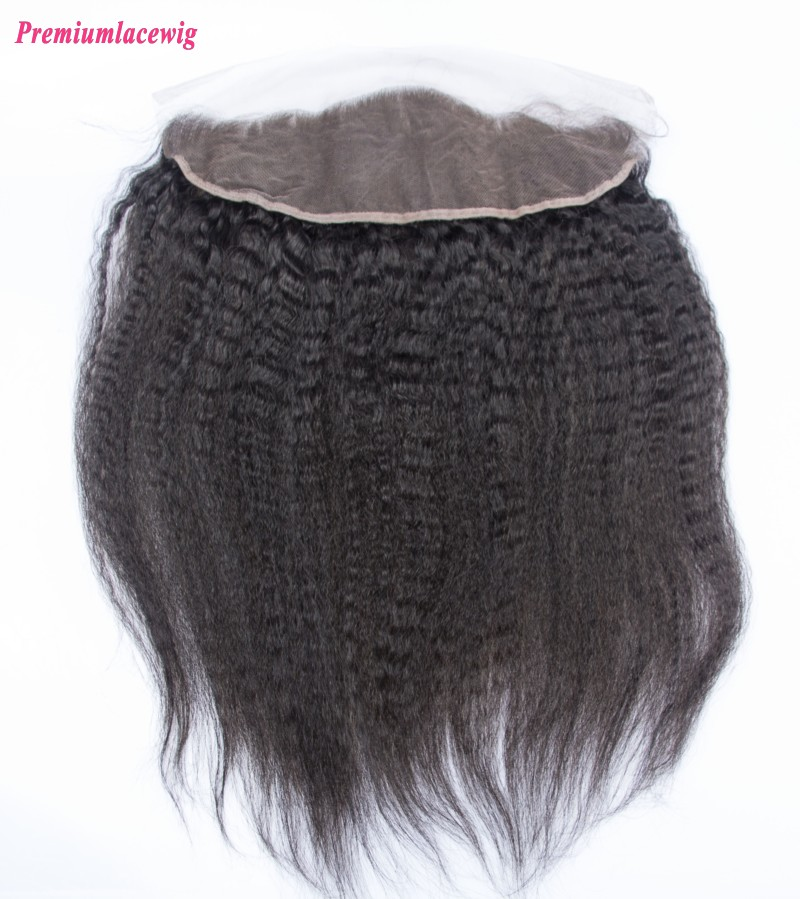 Malaysian Kinky Straight Lace Frontal 13X4 12inch