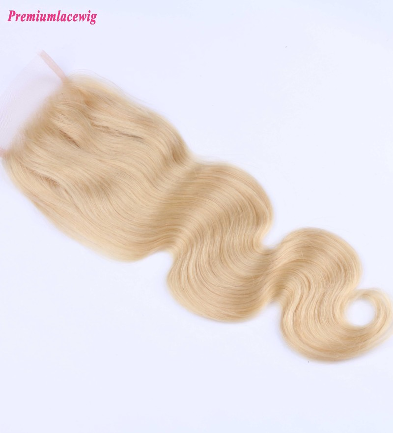 Malaysian Lace Closure Body Wave Hair Color 613 12inch