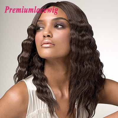 Malaysian Loose Wave Full Lace Human Hair Wigs 18inch