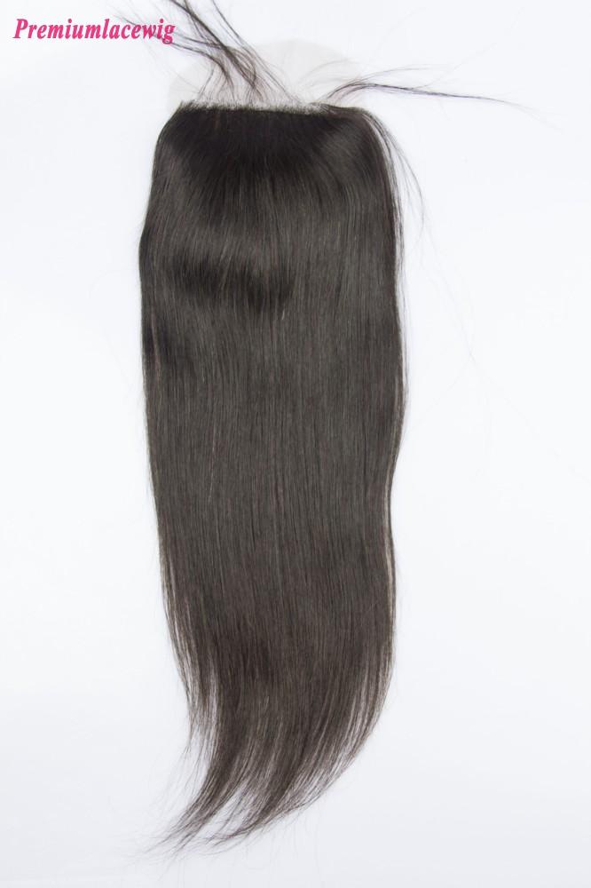 Mongolian Straight Hair Silk Base Closure 16inch