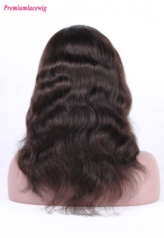 Natural Wave Silk Base Full Lace Wig Brazilian Hair 16inch