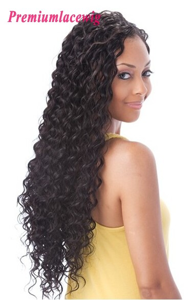 Peruvian Hair Full Lace Human Hair Wigs Deep Curly 20inch