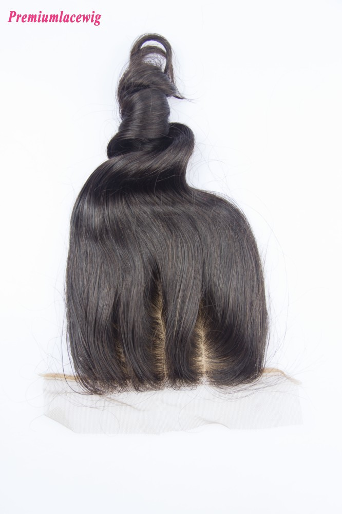 Silk Base Closure Brazilian Loose Wave Hair Three Part 14inch