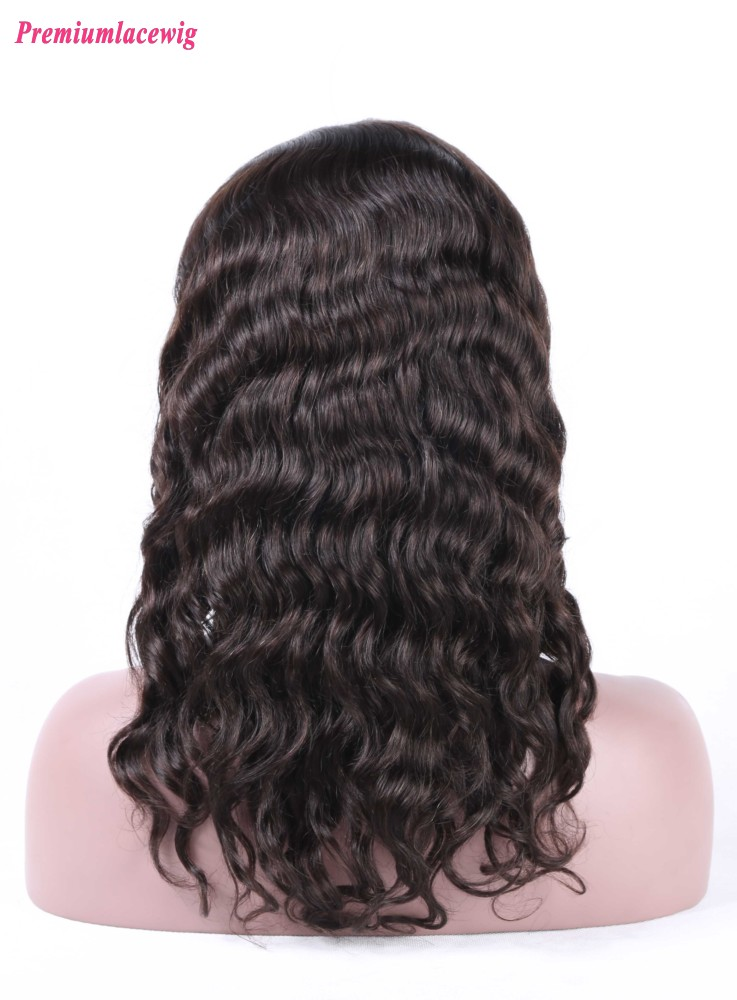 Silk Top Lace Front Wig Peruvian Loose Deep Wave Hair 16inch