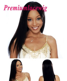 Straight Full Lace Human Hair Wig Peruvian Hair 18inch