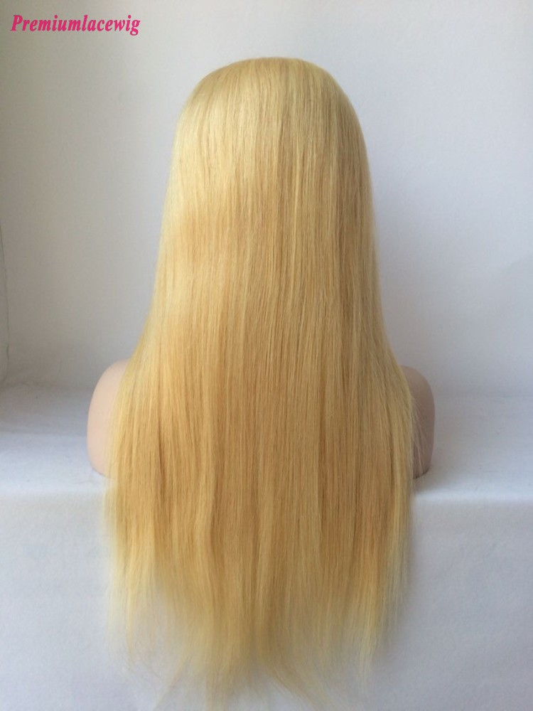 Straight Malaysian Full Lace Wig Color 613 16inch