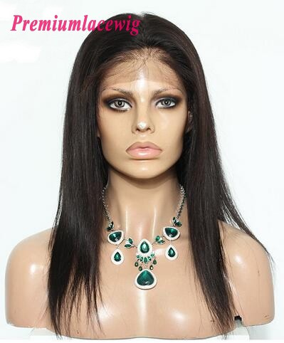 360 Lace Front Wigs 130% Density Indian Straight Hair 18inch