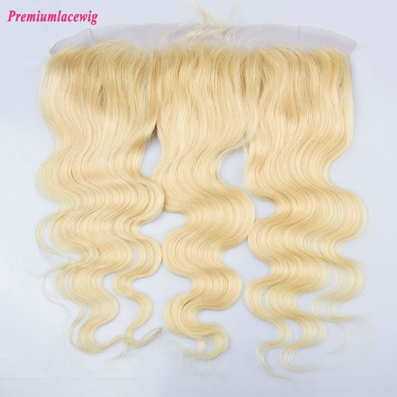 Blonde Lace Frontal Brazilian Hair Body Wave color 613 16inch