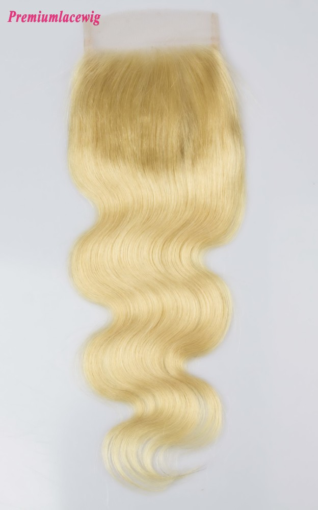 Brazilian Blonde Lace Closure Body Wave Color 613 12inch