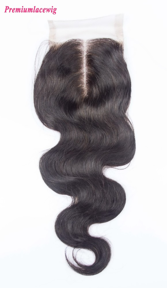 Brazilian Virgin Hair Body Wave Lace Closure Middle Part 14inch