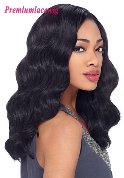 Brazilian Virgin Human Hair Full Lace Wigs Body Wave Hair 18inch