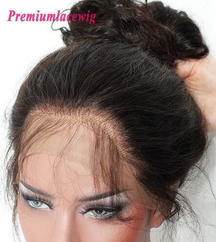 indian hair body wave 360 lace wigs pre plucked 18inch