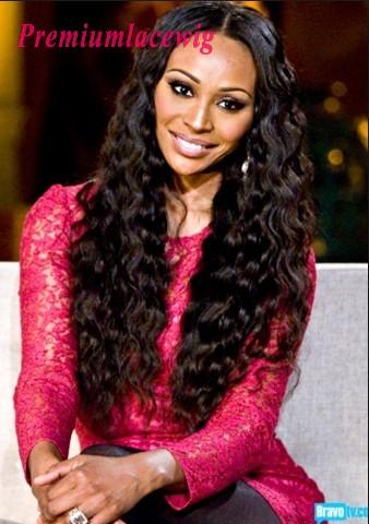 Malaysian Hair Full Lace Human Hair Wig Deep Curly 16inch