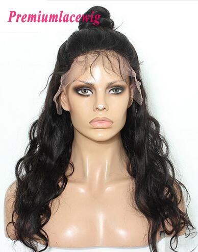 Body Wave 360 Lace Frontal Wigs Pre Plucked Peruvian Hair 20inch