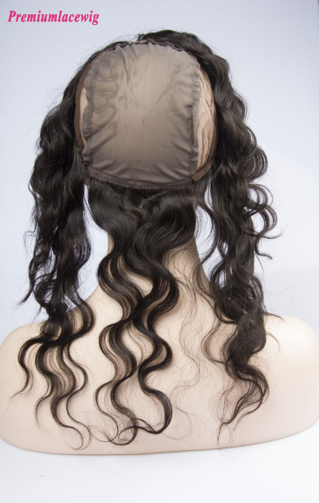 Body Wave Peruvian Hair 360 Lace Frontal With Cap 16inch