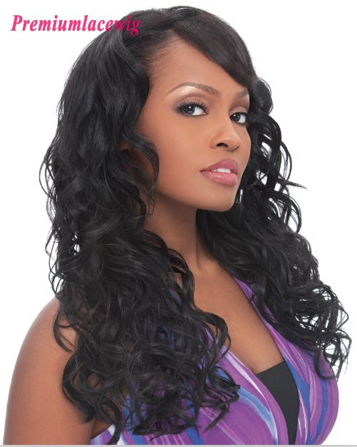 Brazilian Hair Loose Wave Full Lace Human Hair Wigs 16inch