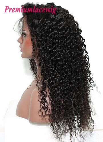 Deep Curly 360 Lace Frontal Wigs Pre Plucked Brazilian Hair 150% Density 18inch