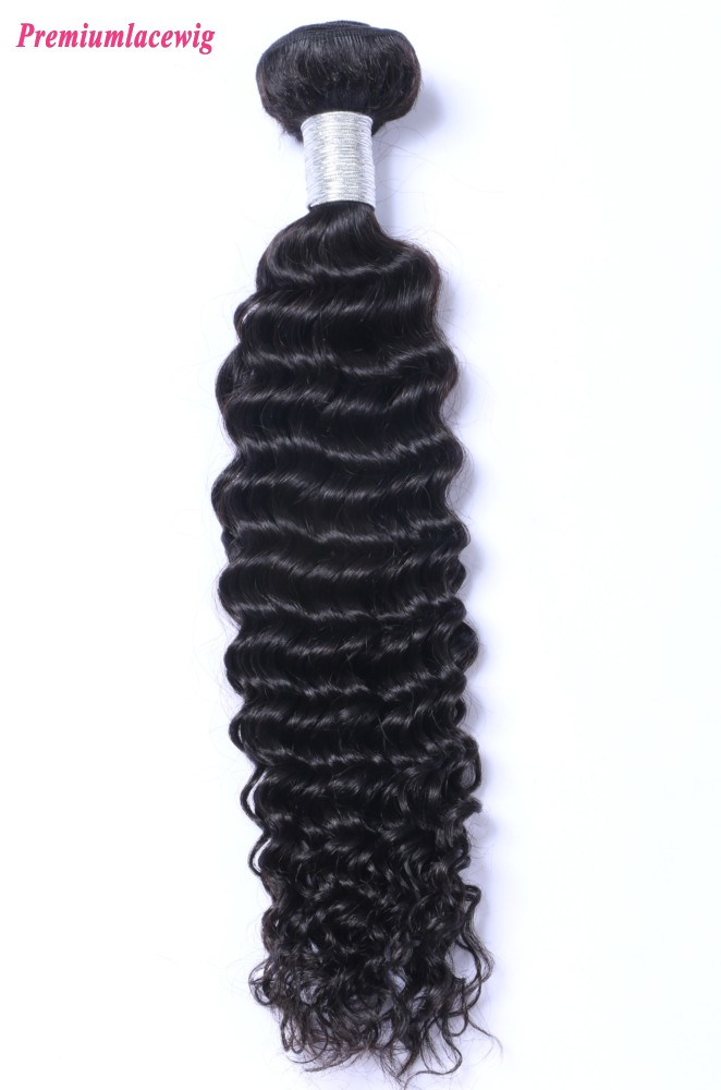 Deep Wave Hair Extensions Indian Human Hair 1 Bundle 16inch