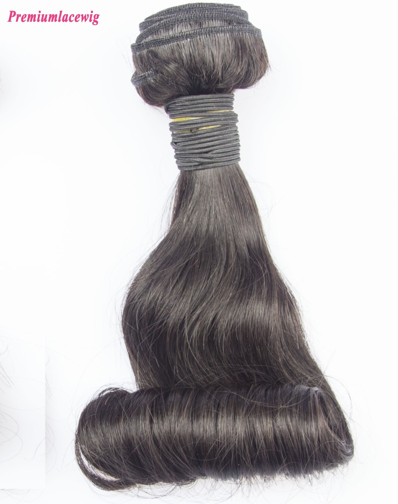 Indian Funmi Hair Bundles 1 Bundle Natural Color 16inch