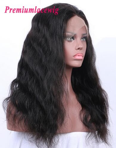 Indian Hair Body Wave 360 Lace Frontal Wigs 150% Hair Density 18inch