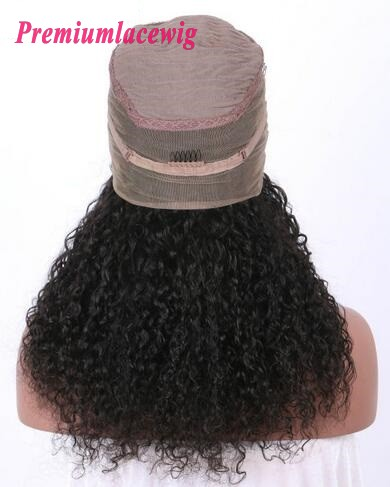 Kinky Curl 360 Lace Wigs Indian Hair 150% Density 18inch