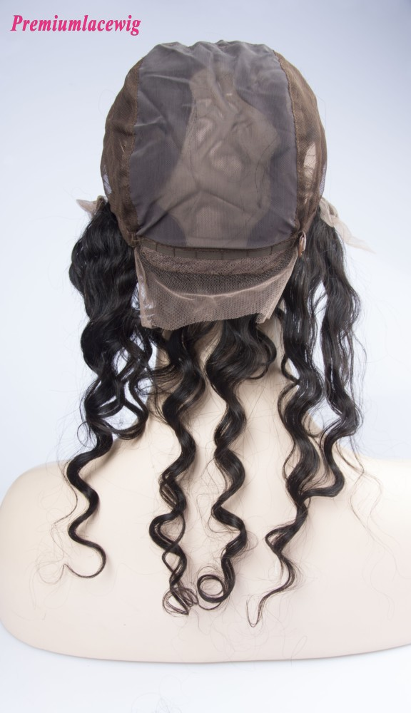 Malaysian Hair Deep Wave 360 Degree Lace Frontal With Cap 16inch