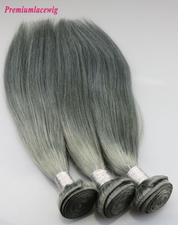 Malysian Straight Hair Bundle 1PC Color 1B-Gray 16inch