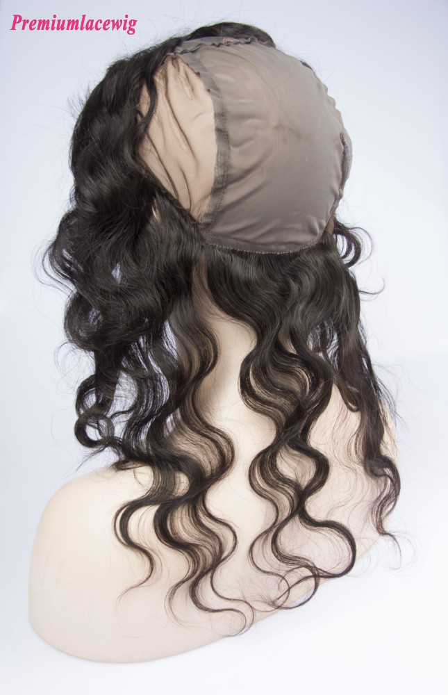 Pre Plucked 360 Lace Frontal With Wig Cap Body Wave Brazilian Hair 16inch