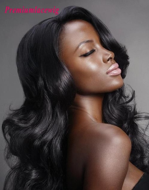 Premium Hair Full Lace Wig Body Wave Peruvian Hair 18inch Instock
