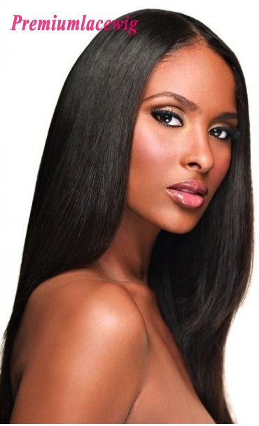 Straight Full Lace Wig Indian Virgin Hair 18inch