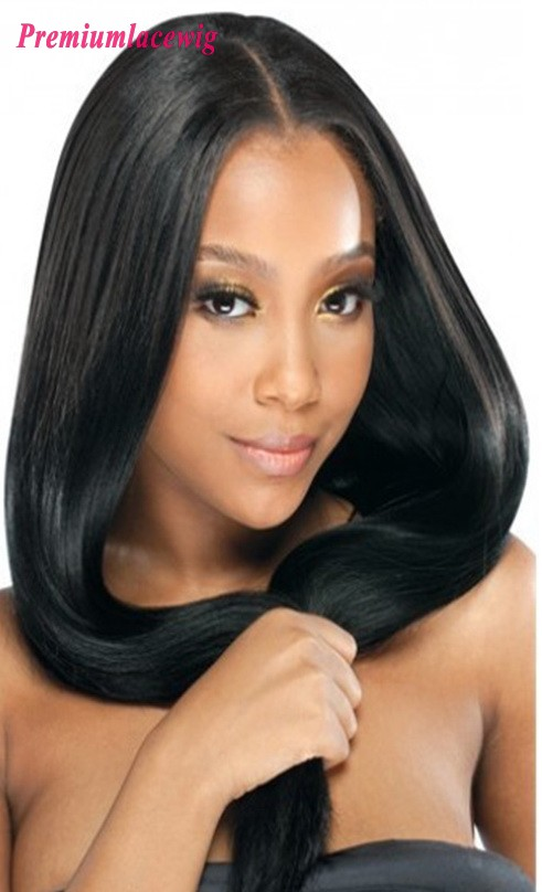 24inch Full Lace Human Hair Wigs Brazilian Straight Hair