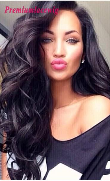 Big Wave Long Human Hair Full Lace Wig Brazilian Hair 18inch 180% Density Instock