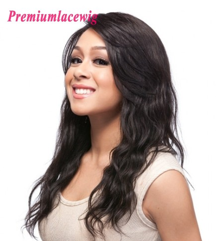 Cheap Full Lace Wig Brazilian Natural Wave Human Hair 16inch
