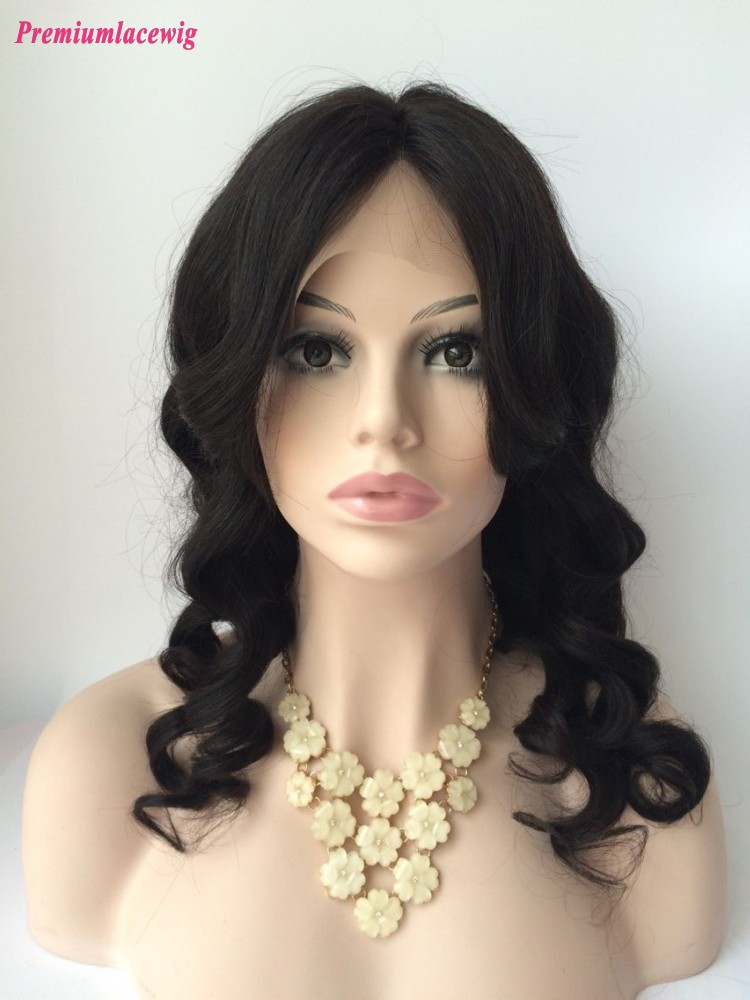 Loose Wave Lace Front Wig Cheap Malaysian Virgin Hair 20inch