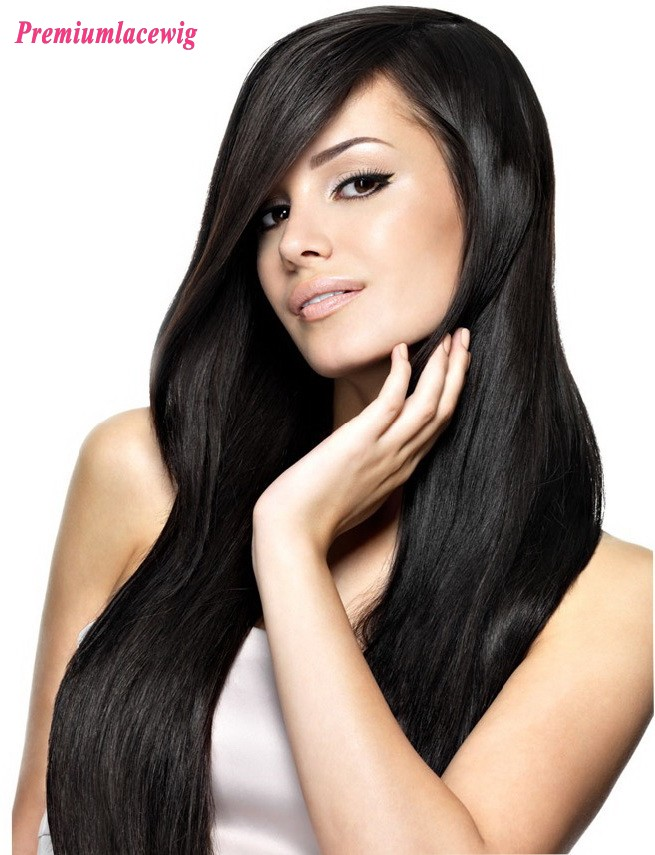 Malaysian Straight Human Hair Full Lace Wig 18inch