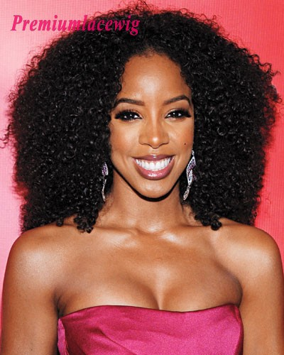 14inch Indian Curly Virgin Hair Full Lace Wig Instock