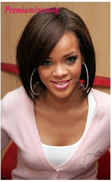 Indian Virgin Hair BOB Full Lace Wig Straight Natural Color 10inch Instock