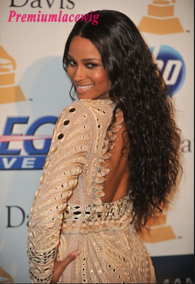 Peruvian Curly Virgin Human Hair Lace Front Wig 24inch Instock