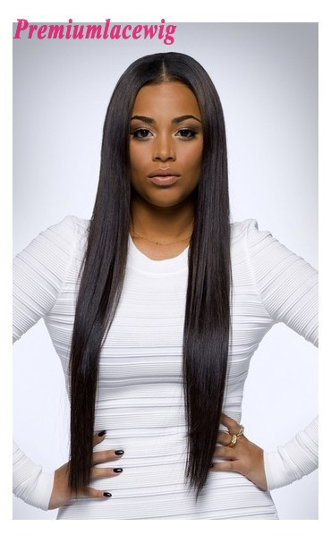 Silky Straight Lace Front Wig Indian Virgin Hair 24inch Instock