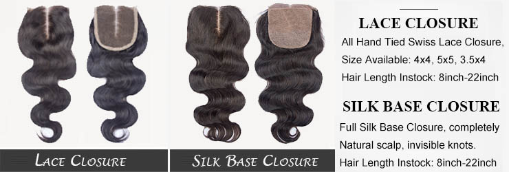 Silk Base lace closure for sale, the best Lace Top Closure For cheap