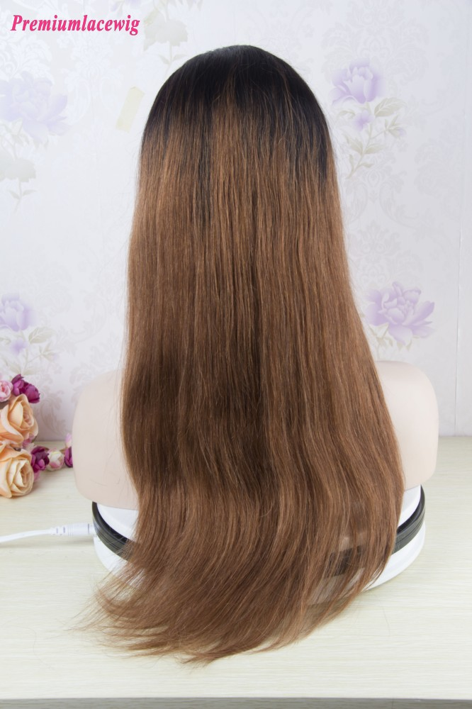 Full Lace Wig Brazilian Straight Ombre 1B-30 18inch