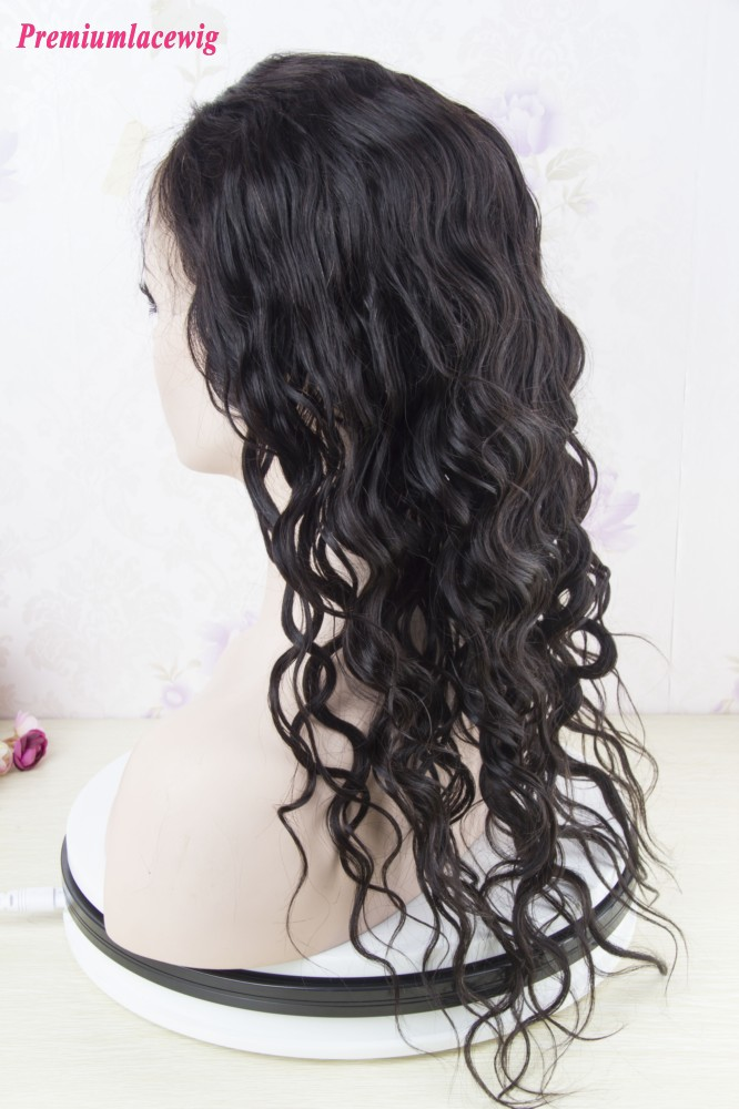 360 Lace Wig Malaysian Loose Wave Human Hair 16inch Instock