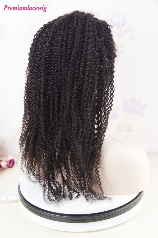 Lace Front Wig Brazilian Afro Kinky Curly Hair 360 Lace Wig 16inch