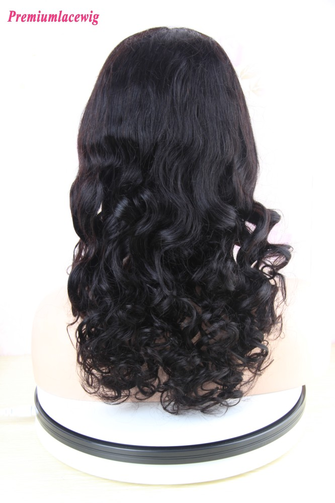 360 Lace Wig Pre Plucked Brazilian Body Curly Human Hair 18inch