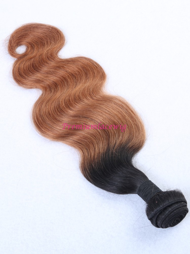 16 inch Ombre Color T1B/33 Brazilian Body Wave Human Hair Bundles