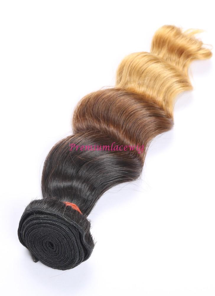 16 Inch Ombre T1b 4 27 Loose Wave Brazilian Human Hair Bundles