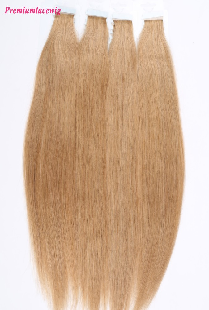 16inch #27 Straight Brazilian Tape in Hair Extensions